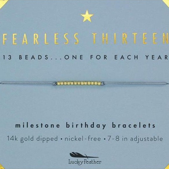 "Lucky Feather Bracelet - ""Fearless Thirteen"""
