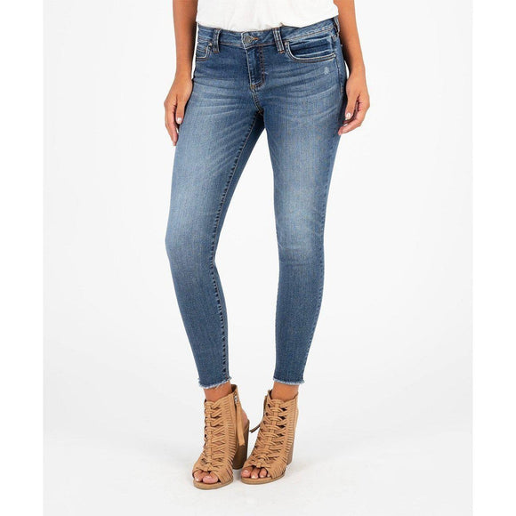 Connie Ankle Skinny Fray Jeans (Guileless)