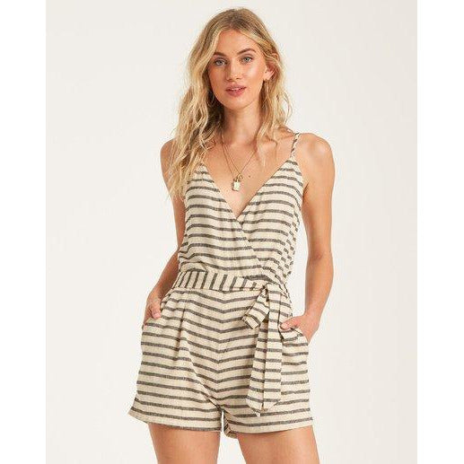 Linger On Striped Romper
