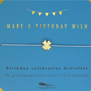"Lucky Feather Bracelet - ""Make A Birthday Wish"""