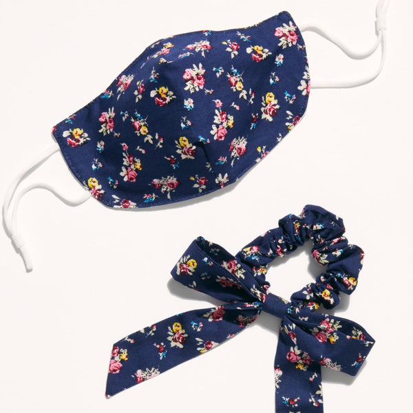 Mask & Bow Floral Set