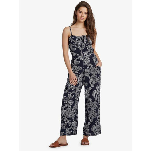 Roxy Feel The Retro Spirit Printed Strappy Jumpsuit
