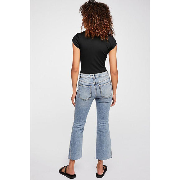 Free People Rita Crop Flare Jean