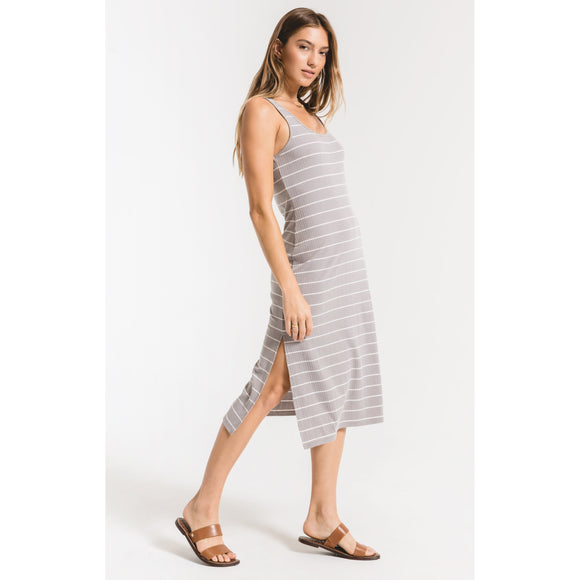Z. Supply Seri Stripe Rib Tank Dress