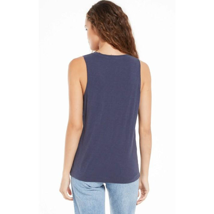 Midnight Navy Sunset Slub Tank