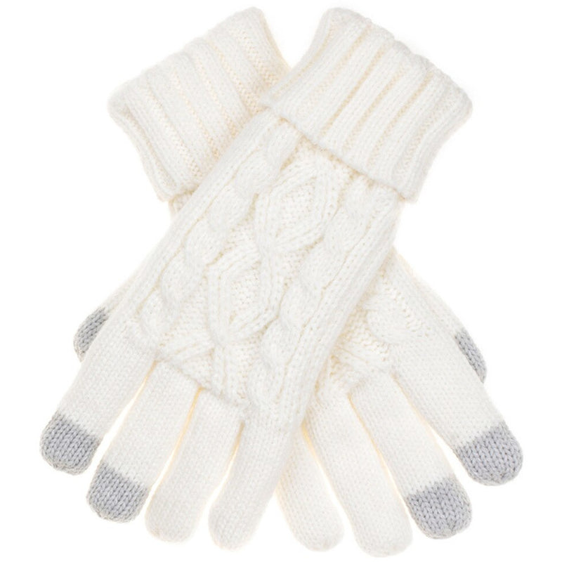 Lined Cable Knit Gloves