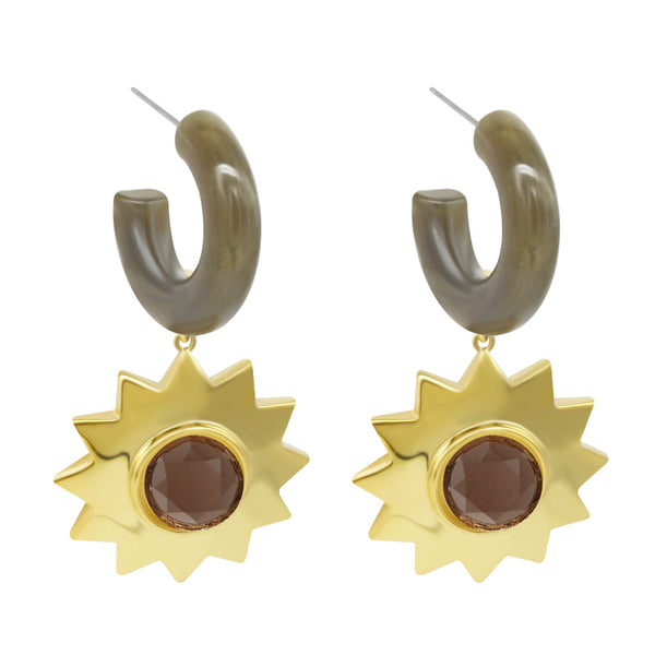Sunshine Earrings - Green