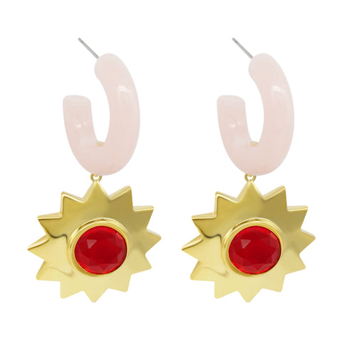 Sunshine Earrings - Pink