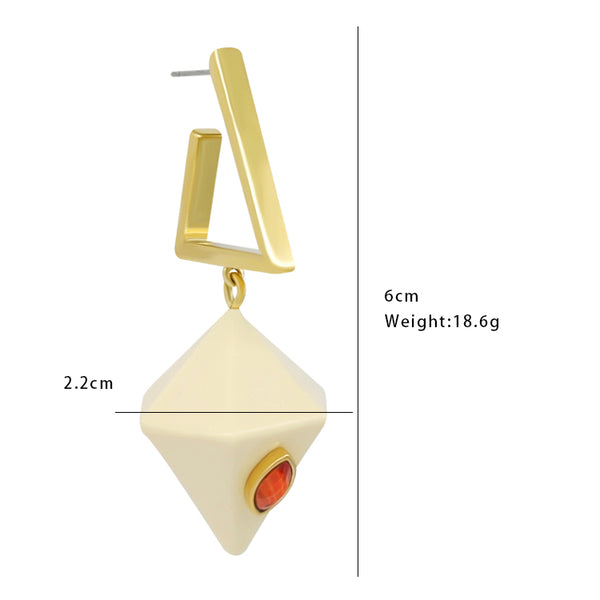 Geo Prism Earrings - Ivory