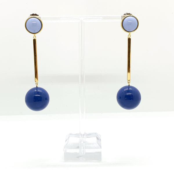Circle and Stick Earrings Blue QuayL Designs