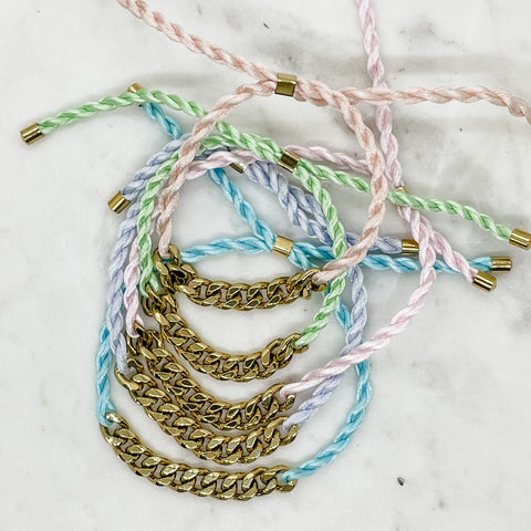 Cord and Chain Bracelet