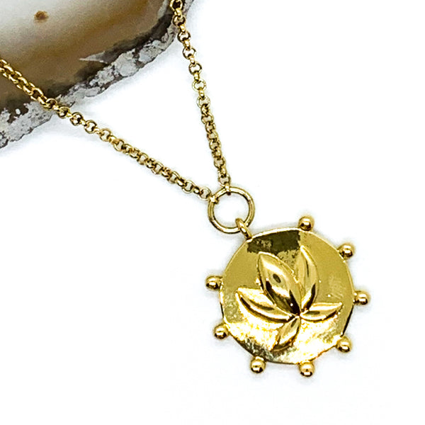 Lotus Necklace - Gold