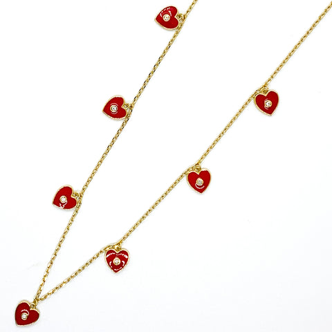 I Heart You Necklace - Red