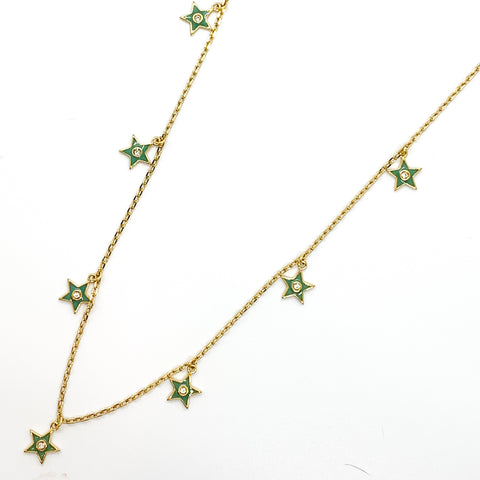 Star of your Life Necklace - Sage