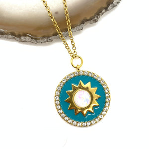 Shine Bright Necklace in Turquoise