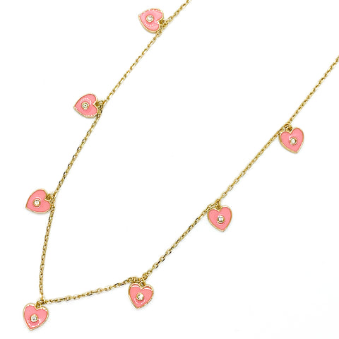 I Heart You Necklace - Light Pink