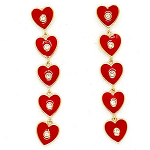 I Heart You Earrings - Red