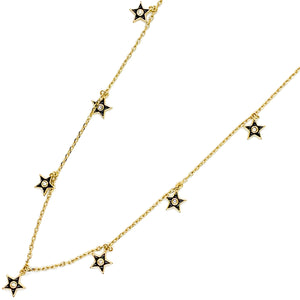 Star of your Life Necklace - Black