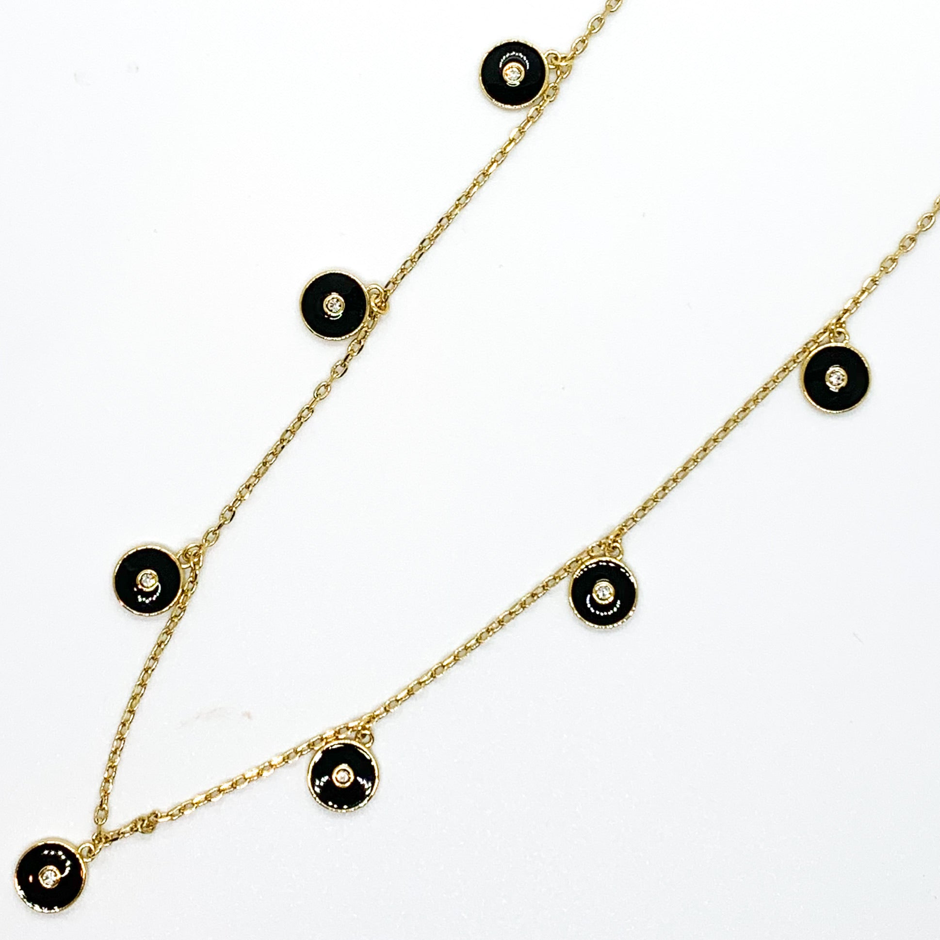 Round and Round Necklace - Black