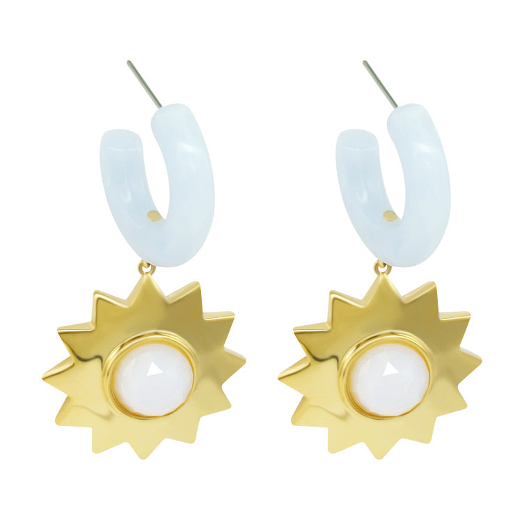 Sunshine Earrings - Ice Blue