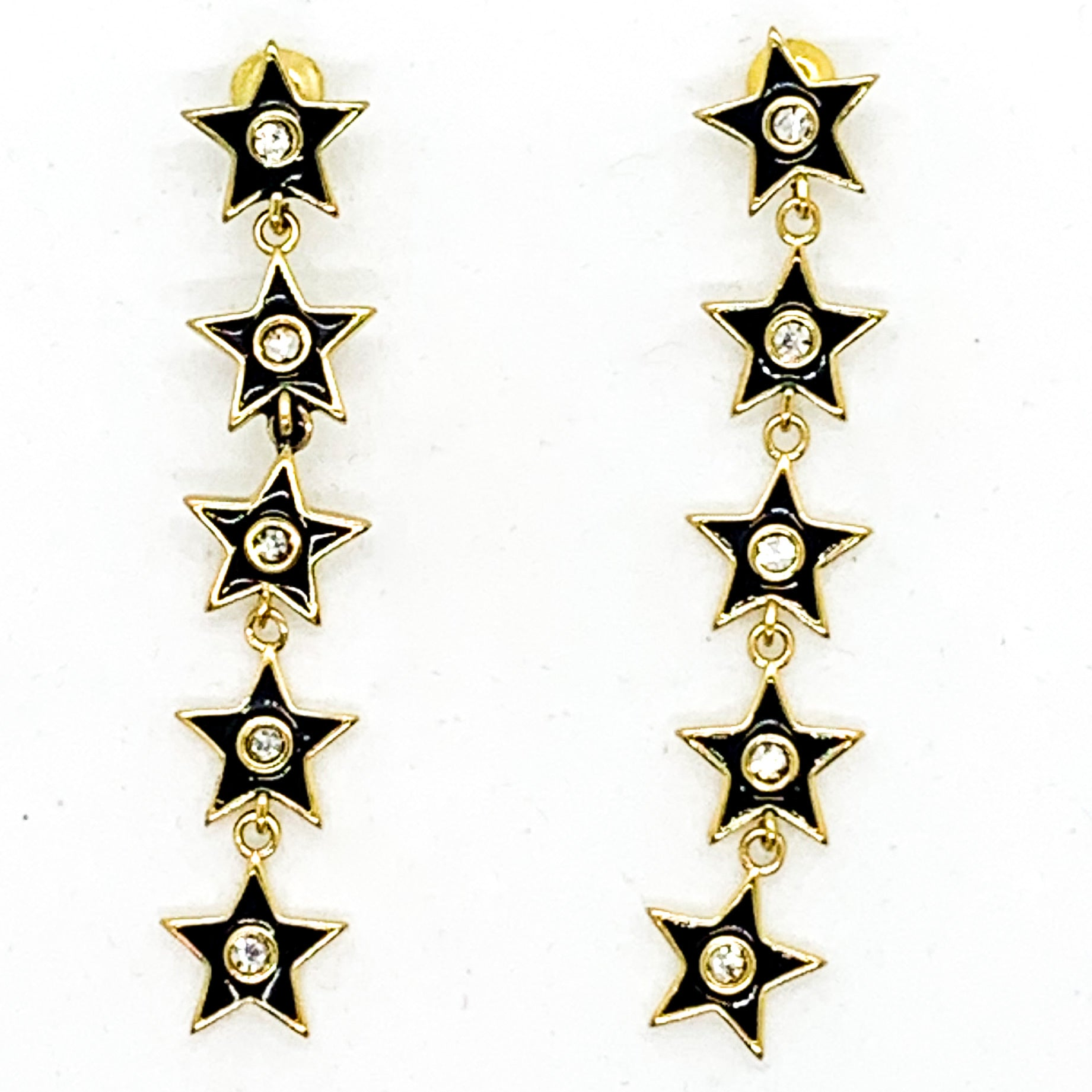 Star of your Life Earrings - Black
