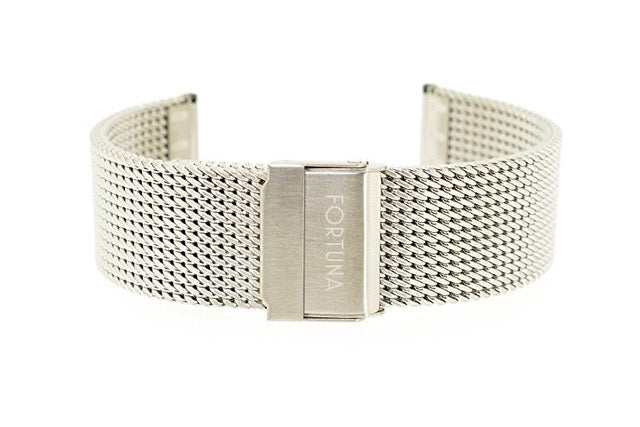 Metal Wristband Milanaise Silver 22 mm Silver