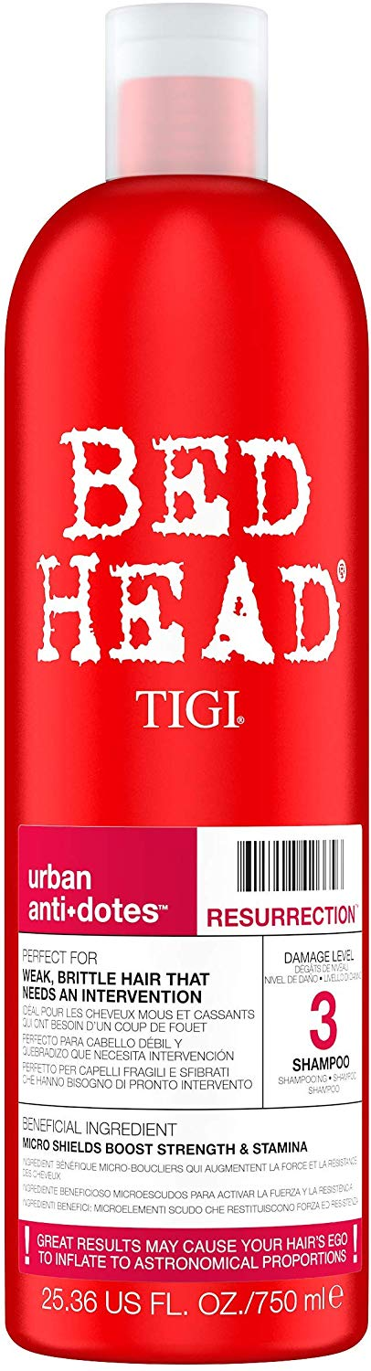 Tigi Bed Head Urban Anti+dotes Resurrection Shampoo Damage Level 3 25.36 Ounce - shoper2shoper.com