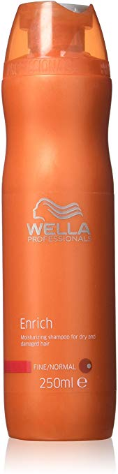 Wella Enrich Moisturizing Shampoo For Dry & Damaged Hair (Fine/Normal) 250ml/8.4oz - shoper2shoper.com