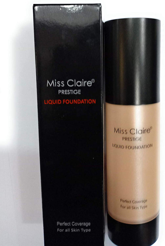 Miss Claire Prestige Liquid Foundation Perfect Coverage, 21 Natural Beige, 35 ml - shoper2shoper.com