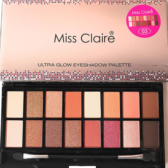 Miss Claire Miss Claire Ultra Glow Contour & Highlighter Makeup Palette 3, Multi, 16 Grams, Multicolor, 16 g - shoper2shoper.com