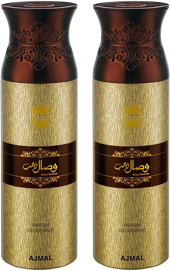 Ajmal WisalDhahab Deodorants for Men and Women - Pack of 2 - shoper2shoper.com