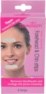 Cameleon Deep Cleansing Forehead & Chin Strips ( Quick, Easy & Effective ) - 6 Strips - shoper2shoper.com