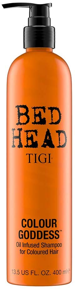 TIGI Bed Head Colour Goddess Oil Infused Shampoo with Vitamin E for Coloured Hair 400 ml - shoper2shoper.com