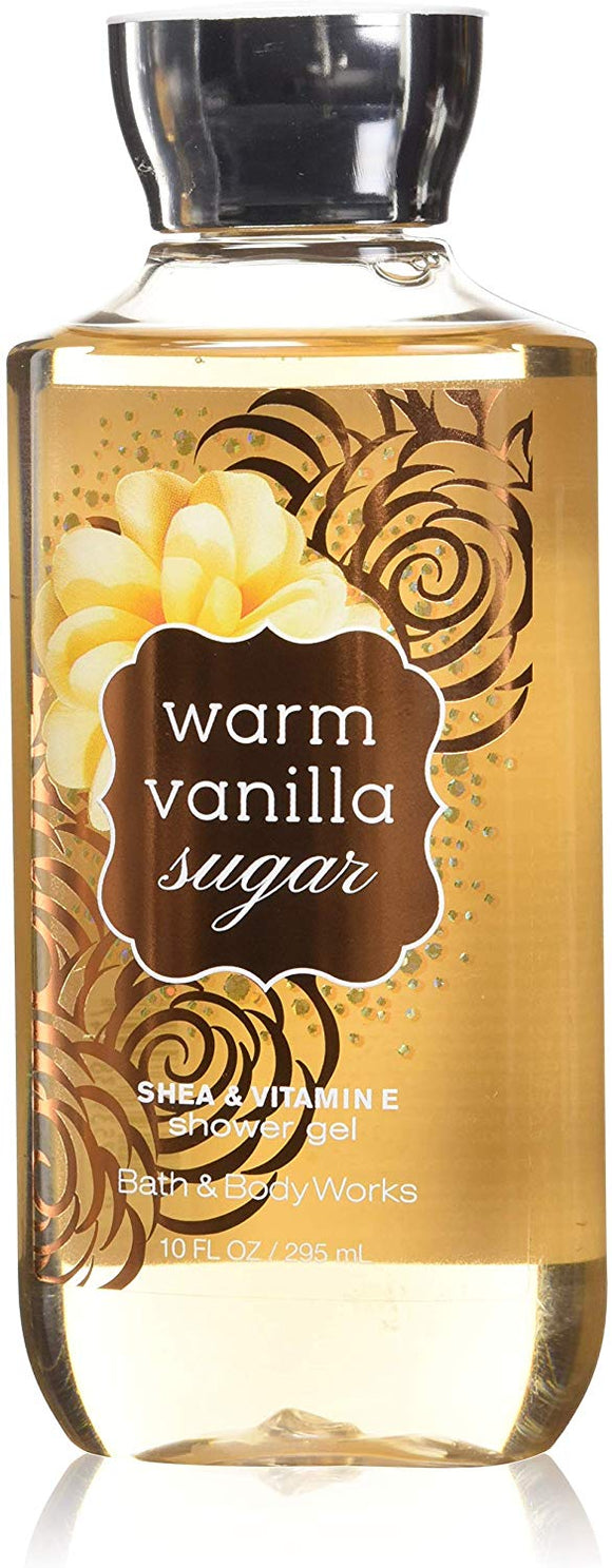 Bath & Body Works Signature Collection Warm Vanilla Sugar Shower Gel, 10 oz - shoper2shoper.com