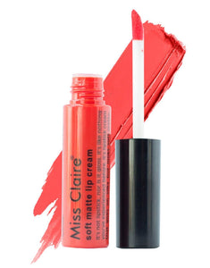 Miss Claire Soft Matte Lip Cream, 25 Orange, 6 g - shoper2shoper.com