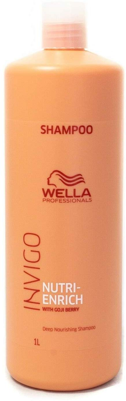 Wella Enrich Moisturizing Shampoo For Dry & Damaged Hair (Fine/Normal) 1000ml - shoper2shoper.com