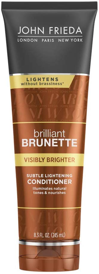 John Frieda Brilliant Brunette Visibly Brighter Subtle Lightening Conditioner, 8.3 Ounce - shoper2shoper.com