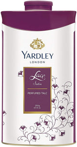 Yardley London Lace Satin Perfumed Talc for Women, 250g - shoper2shoper.com