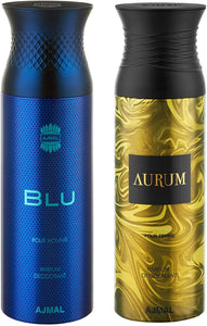 Ajmal Men's and Women's Blu and Aurum Deodorants - Pack of 2 - shoper2shoper.com