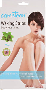 CAMELEON Waxing Strips - Mint - Pack of 20 (Blue) - shoper2shoper.com