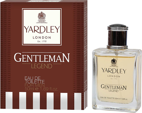 Yardley London Legend Eau de Toilette For Men, 50ml - shoper2shoper.com