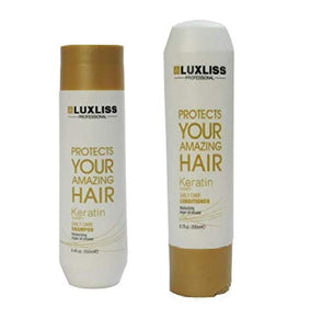 "Luxliss Professional Protects Your Amazing Hair Keratin System Daily Care Shampoo - 250ml and Conditioner - 200ml"" - shoper2shoper.com"