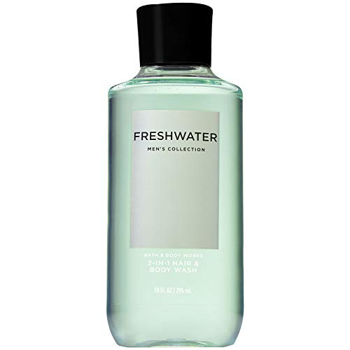 Bath & Body Works Men's Freshwater 2-in-1 Hair and Body Wash 10 Fluid Oz - shoper2shoper.com