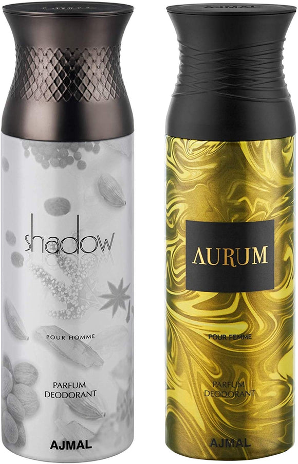 Ajmal Shadow Him and Aurum Deodorants for Men - Pack of 2 - shoper2shoper.com