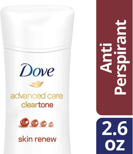 Dove Advanced Care Anti-Perspirant Deodorant, Clear Tone Skin Renew 2.6 oz - shoper2shoper.com