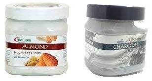 Biocare Almond Cream and Charcoal Scrub, Combo of 2 500 ml Each - shoper2shoper.com