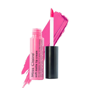 Miss Claire Soft Matte Lip Cream, 43 Pink, 6 g - shoper2shoper.com