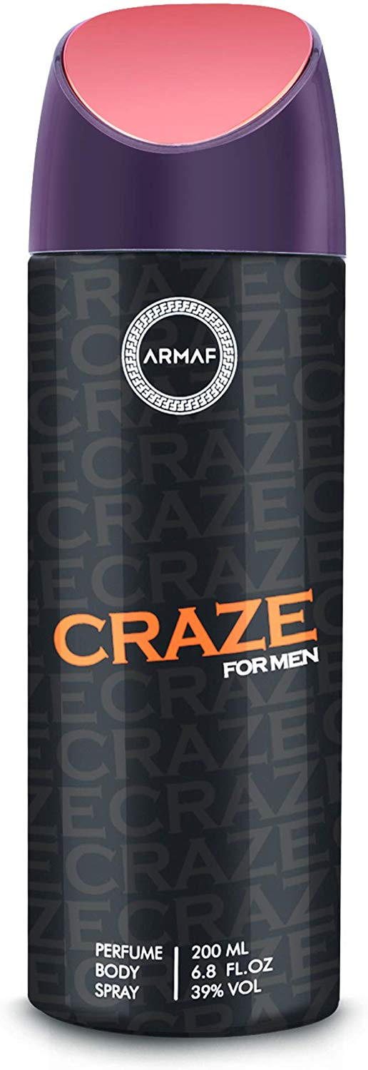 Armaf Craze Deodorant Body Spray For Men 200 ML - shoper2shoper.com