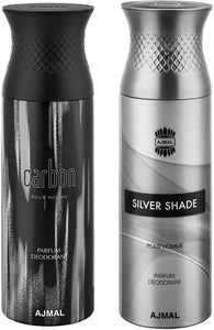 Ajmal Carbon and Silver Shade Deodorants for Men - Pack of 2 - shoper2shoper.com
