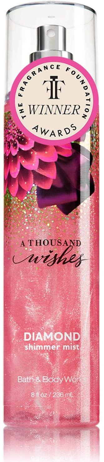 Bath and Body Works a Thousand Wishes Diamond Shimmer Mist 8 Fl Oz - shoper2shoper.com